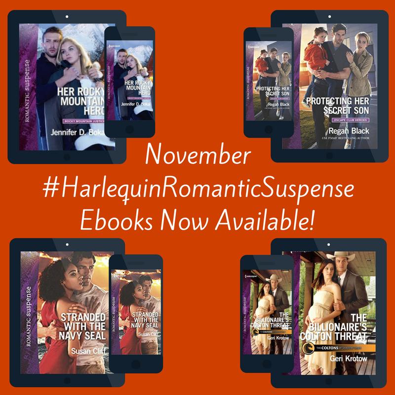 November #HarlequinRomanticSuspense Ebook Release Day!